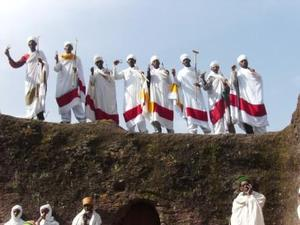 Lalibela Priests singing at Lalibela